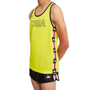 Kappa Rowa Neon Yellow Mesh Tank Top Track Vest